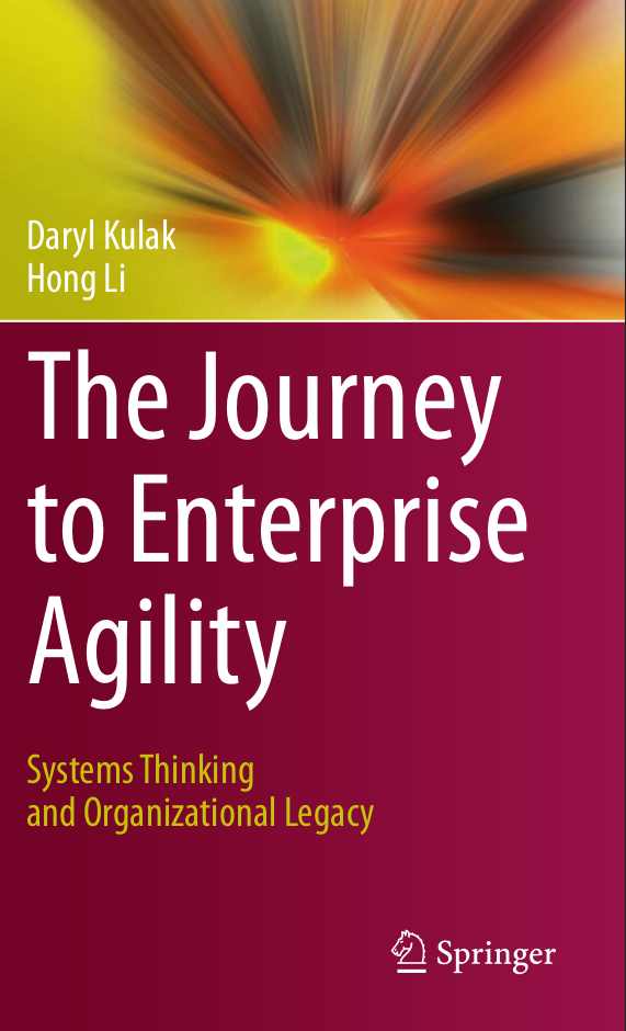 "Book cover for ""The Journey to Enterprise Agility: Systems Thinking and Organizational Legacy"""